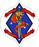 USMC 1st Battalion 4th Marines Sticker 1/4 Whatever It Takes