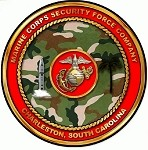 MCSF NWS Charleston SC Sticker Marine Corps Security Force Company USMC
